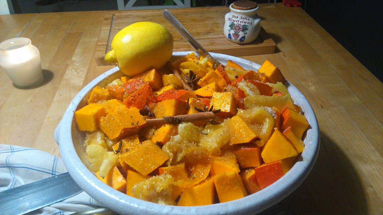 Narancsos-gyömbéres töklekvár